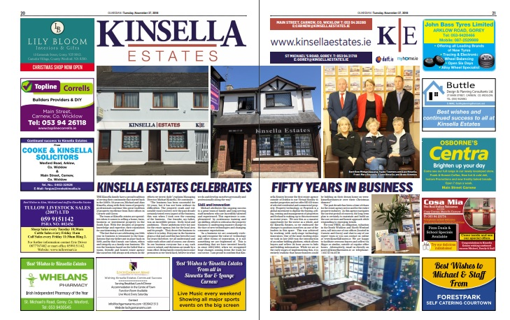 Kinsella Estates Celebrates 50 Years in Business